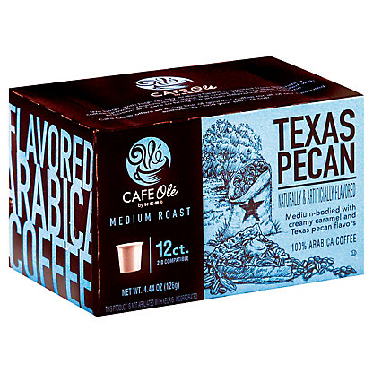 H-E-B Cafe Ole Texas Pecan Medium Roast Single Serve Coffee Cups, 12 ct