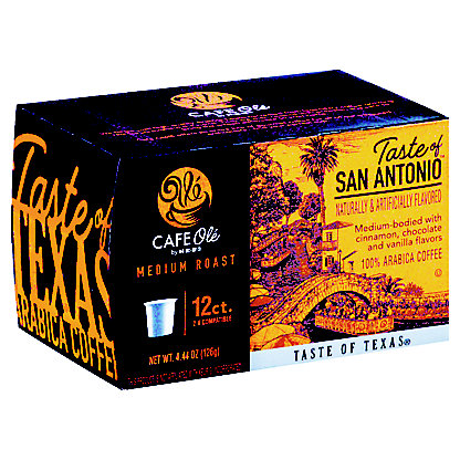 H-E-B Cafe Ole Taste of San Antonio Medium Roast Single Serve Coffee Cups, 12 ct