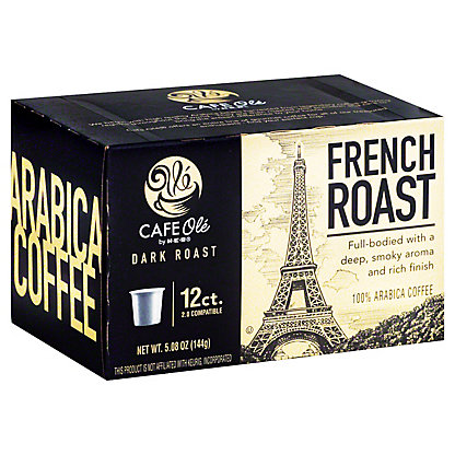 H-E-B Cafe Ole French Roast Dark Roast Single Serve Coffee Cups,12 ct