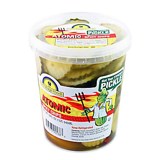 Farm Ridge Foods Atomic Spicy Pickle Chips, 32 OZ