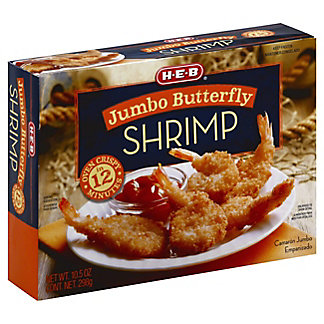 H-E-B Jumbo Butterfly Shrimp,10.5 OZ