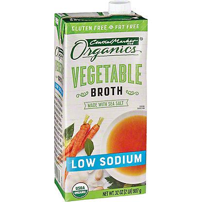 Central Market Organics Low Sodium Vegetable Broth, 32 oz