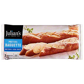 Julian's Recipe European Style Pretzel Baguette with Butter and Sea Salt,2 ct