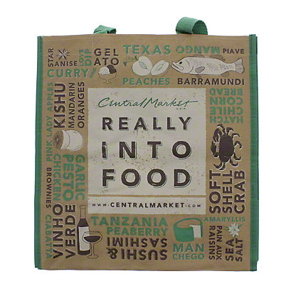 Green Earth Bags Really Into Food, Medium Eco Bag, EACH