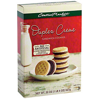Central Market Duplex Creme Sandwich Cookies, 20 oz