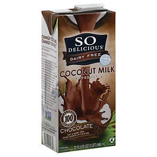 So Delicious Organic Chocolate Coconut Milk,32OZ