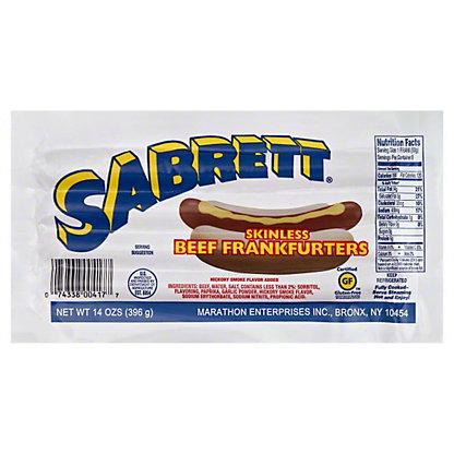 Sabrett Skinless Beef Frankfurters,14 oz.