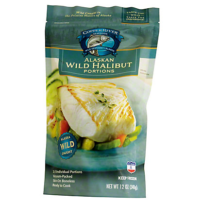 Copper River Halibut Frozen Portions,12 OZ