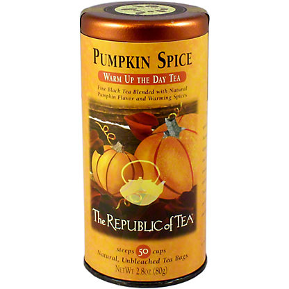 The Republic of Tea Pumpkin Spice Warm Up the Day Tea Bags,50 CT
