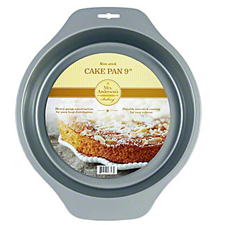 Mrs. Andersons 9 Inch Round Cake Pan Nonstick, Ea