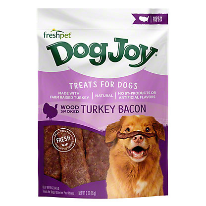 Freshpet Dog Joy Turkey Bacon Treats For Dogs,3 OZ