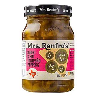Mrs. Renfro's Sweet & Hot Jalapeno Peppers - Nacho sliced,16 oz