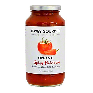 Dave's Gourmet Spicy Heirloom Marinara Pasta Sauce,25.5 OZ
