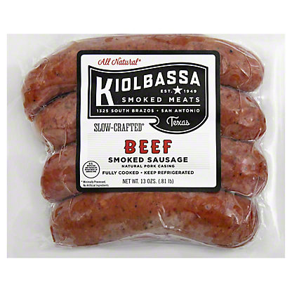 Kiolbassa All-Natural Beef Smoked Sausage Links, 13 oz