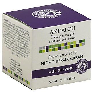 Andalou Naturals Age-Defying Resveratrol Q10 Night Repair Cream,1.7 OZ