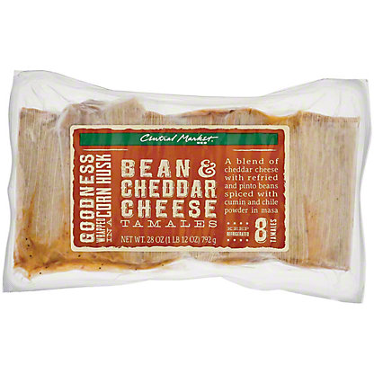 Central Market Bean and Cheddar Cheese Tamales, 8 ct
