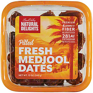 Natural Delights Pitted Medjool Dates, 12 oz