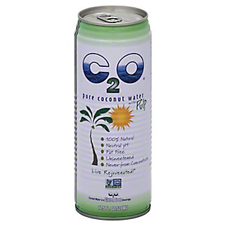 C2O Pure Coconut Water with Pulp, 17.5 oz