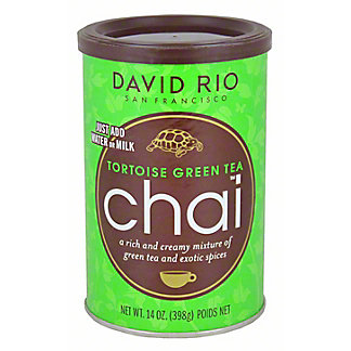 David Rio Tortoise Green Tea Chai, 14.00 oz
