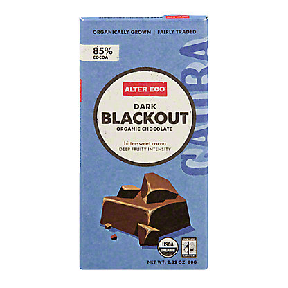 Alter Eco Dark Blackout Chocolate Bar,2.82 OZ