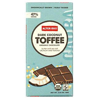 Alter Eco Dark Coconut Toffee Organic Chocolate Bar, 2.82 OZ