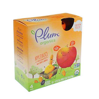 Plum Organics Mashups Carroty Chop Fruit and Veggie Smoothie, 4 ct