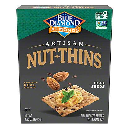 Blue Diamond Artisan Nut-Thins Flax Seeds Cracker Snacks, 4.25 oz