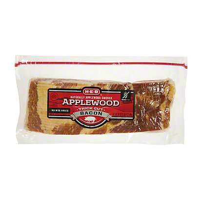 H-E-B Premium Thick Cut Applewood Smoked Bacon, 24 oz