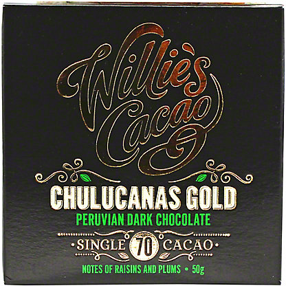 Willies Cacao Peruvian Gold Chocoalate Single Square, 50GR