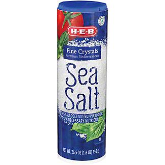 H-E-B Fine Mediterranean Sea Salt,26.5 oz