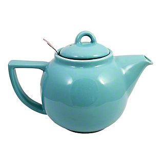Now Designs London Pottery Geo 2 Cup Aqua Teapot, ea