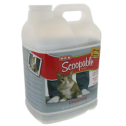 H-E-B Scoopable Unscented Cat Litter, 22 lbs