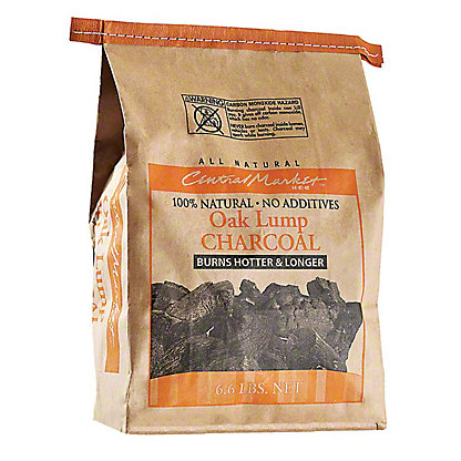 Central Market Oak Lump Charcoal,6.6 LBS
