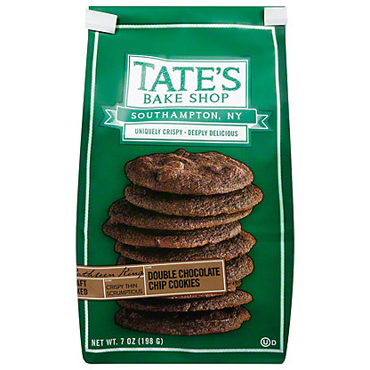 Tate's Bake Shop Double Chocolate Chip Cookies,7 OZ