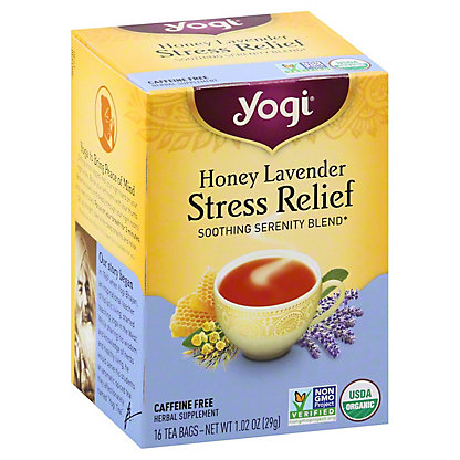 Yogi Yogi Honey Lavender Stress Relief Caffeine Free Tea Bags,16 ct