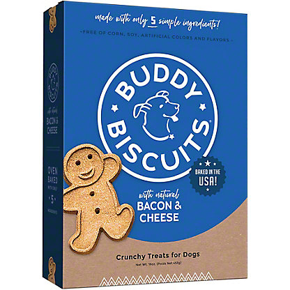 Buddy Biscuits Bacon & Cheese Flavor Dog Treats,16 OZ