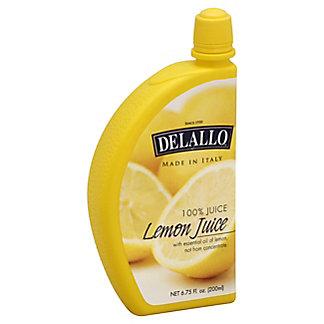 DeLallo 100% Lemon Juice, 6.75 oz