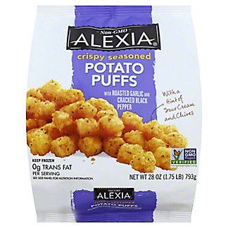 Alexia Alexia Crispy Seasoned Potato Puffs with Roasted Garlic & Cracked Black Pepper,28 oz