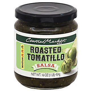 Central Market Roasted Tomatillo Medium Salsa,16 OZ