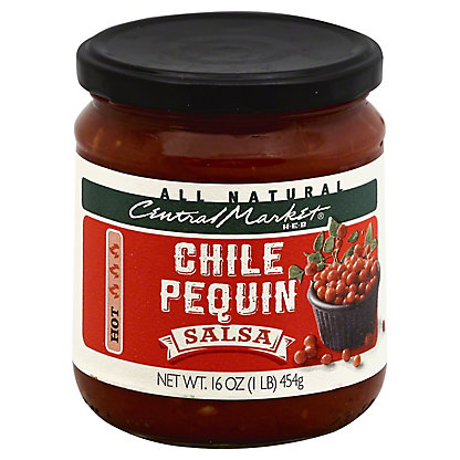 Central Market Chili Pequin Salsa,16 OZ