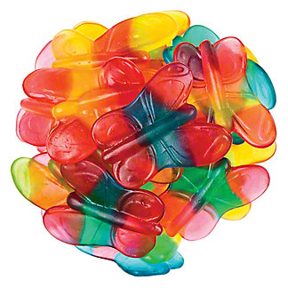 Bulk Gummi Butterflies, Sold by the pound