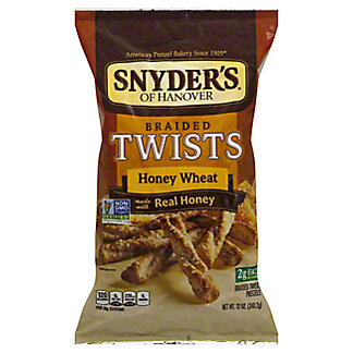 Snyder's of Hanover Braided Twists Honey Wheat Pretzels,12 OZ