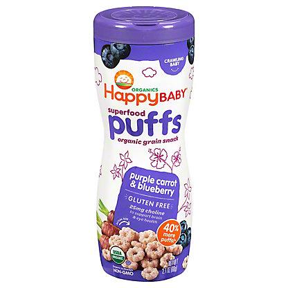 Happy Baby Organics Superfood Pruffs Purple Carrot & Blueberry, 2.1 oz