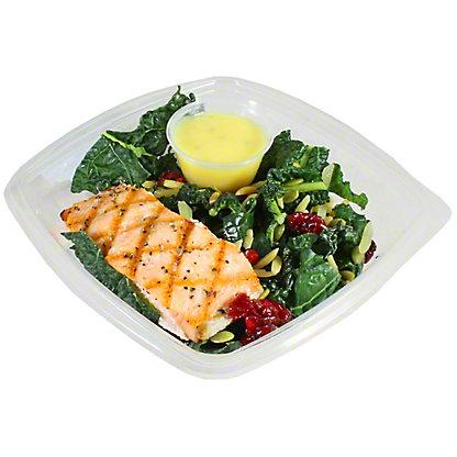 Central Market Kale Cranberry Pepita Salad With Salmon, ea