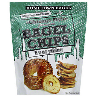 Hometown Bagel Chicago Style Bagel Chips - Everything,6OZ