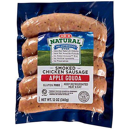 H-E-B Chicken Sausage with Apple Gouda,12 OZ