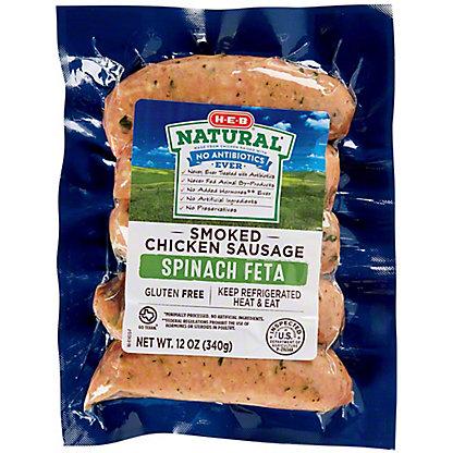 H-E-B Chicken Spinach Feta Sausage,12.00 oz