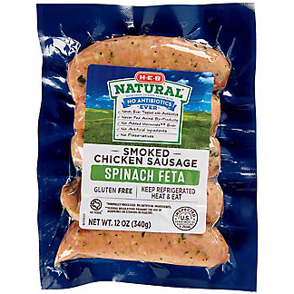 H-E-B Chicken Spinach Feta Sausage,12.00 oz