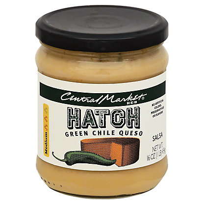 Central Market Hatch Green Chile Queso,16 OZ