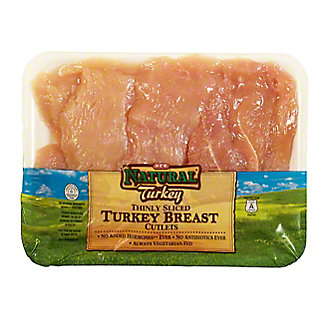 H-E-B Natural Turkey Breast Cutlet,sold by the pound